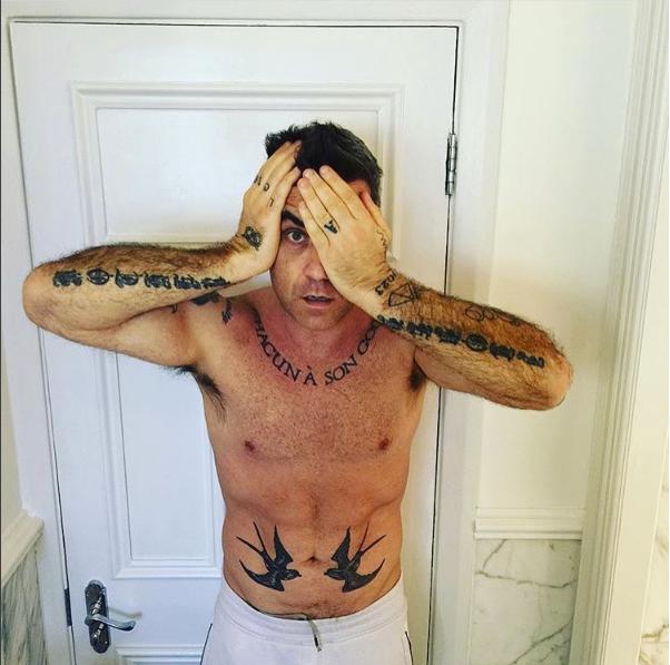 Robbie Williams em versão peso-pesado