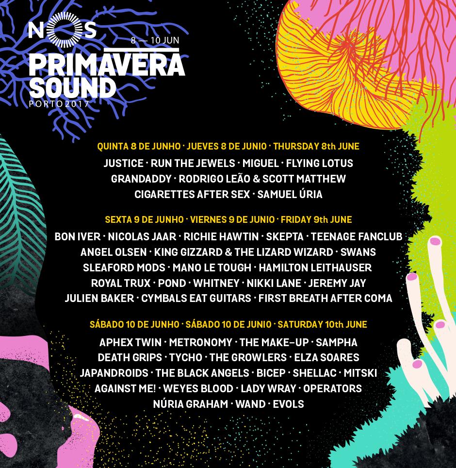 Programação diária do NOS Primavera Sound 2017 já foi anunciada