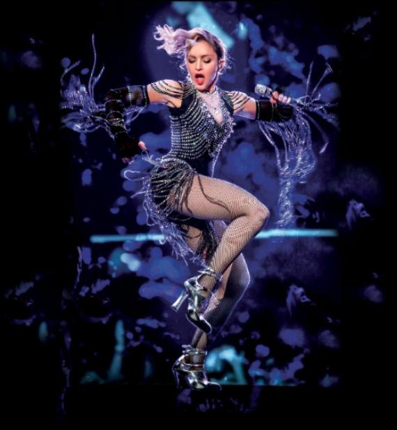 Madonna em registo ao vivo