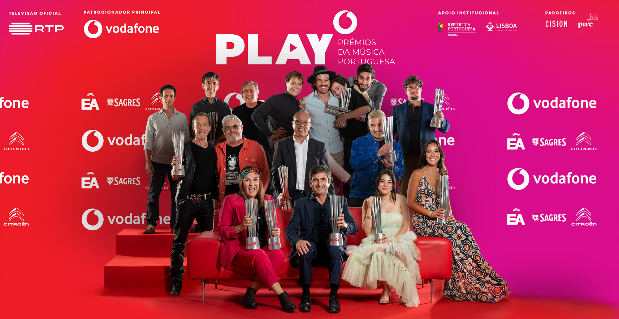 Capitão Fausto, Lena d'Água e Camané e Mário Laginha são os grandes vencedores dos Play