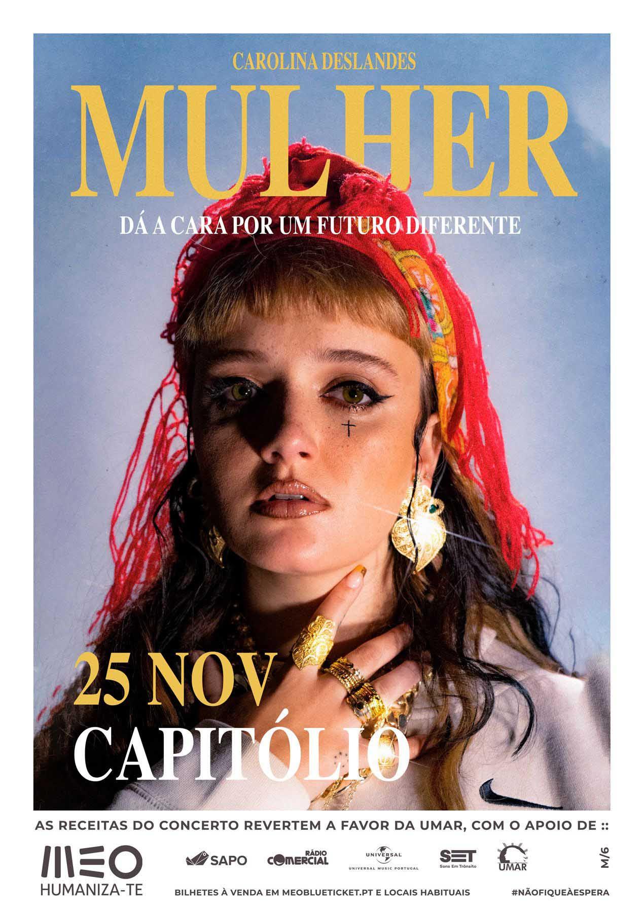 Mulher é o novo EP de Carolina Deslandes